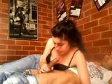 Horny College Girl Dorm Sextape
