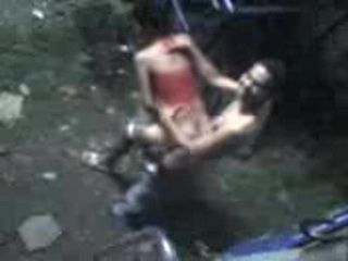 Dad Taping His Son Banging Girlfriend In A Backyard