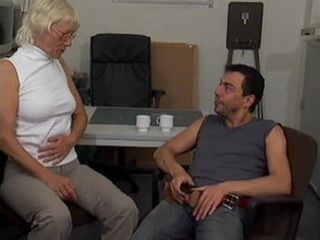 Mature German Secretary Gets Fucked At Office