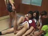 Four Schoolgirls Abused Their Nerd Classmate - CFNM Tekoki