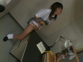 Horny Girl Humps Her Desk