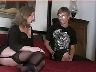 Mother Is Having Foot Fetish With Her Shy Son