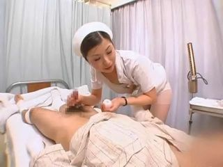Nurse Taking Sperm Sample of a Patient in a Hospital