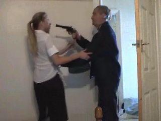 Masked Burglar Fucks Terrified Milf Under Gun Threat Fuck Fantasy