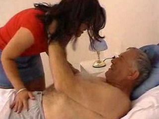 Pervert Old Grandpa Fucks Grandsons Wife