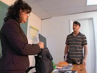 Mature Teacher Gets Anal Fucked By Her Student