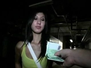 Czeh Teen Accepts Money In Exchange For Fuck In Public Garage