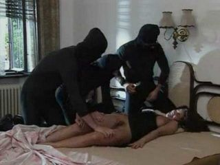 Masked Robbers Fuck Sleeping Home Alone Brunette
