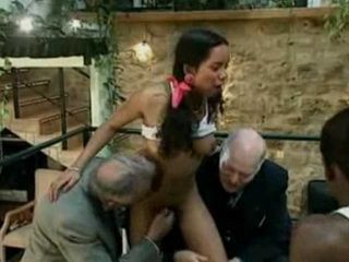 Ebony Teen Gets Fucked By Horny Grandfathers Friends