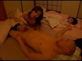 Japanese Milf Wife Fucks Husband Next To Sleeping Mother In Law