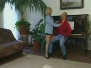 Mature Piano Teacher Fucks Her Student as a Reward for Being Good Boy Today