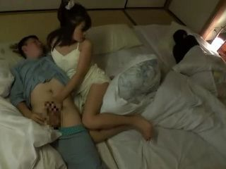 Hot Japanese Step Mother Fucks Step Son While Father Is Sleeping