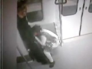 Security Cam Tapes Woman Giving a Blowjob To The Guy In the Metro