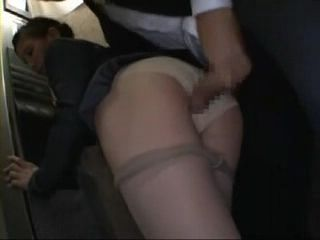 Hot Office Lady Groped and Fucked In Elevator