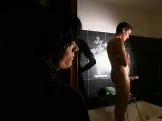 Desperate For Cock Italian Milf Spies Young Man In Bathroom