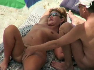 Sharing Hot Wife With Friend On the Beach