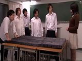 Students Gangbang New Teacher at Classroom