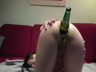 Anal Fucking A Beer Bottle