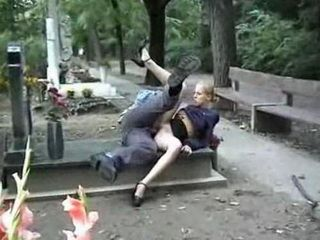 Girls fucking in cemetery think, that