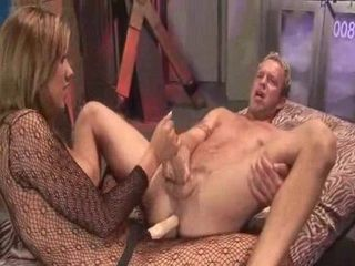 Babe sucking a cock and fucking ass