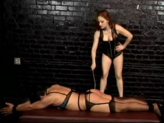 Naughty domina spanking hot ass