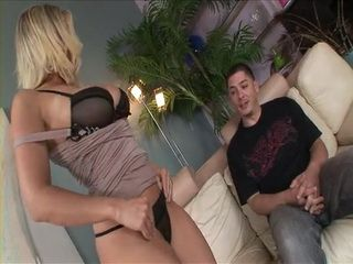 Blond Busty Milf Corners Friend Of Her Son