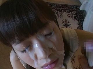 Messed Up Facial Cumshot For Japanese Girl