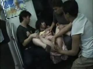 Asian grope on train