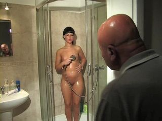 Old Bald Step Father Fuck His Teen Step Daughter When Her Mother Was Away
