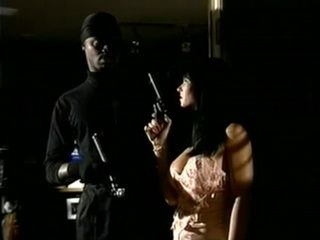 Late Night Black Robber Gets Caught By Armed Milf