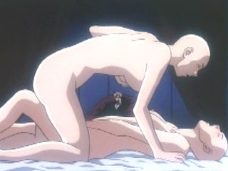 Two bald hentai girls in lesbian sex