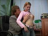 Step Father Fucks His Cute Teen Step Daughter