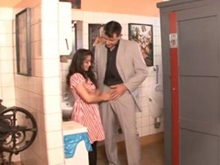 Hot Little Girl Enter By Accident In Man Toilet And Gets Fucked