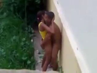 Neighbor Voyeur Tapes Latinoamerican Teenagers Fucking in the Backyard