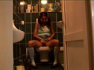 Teen Busted masturbating In Toilet Gets Roughly Throat and Anal Fucked