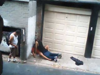 Security Cam Taped Amateur Street Hooker Fucked In Alley