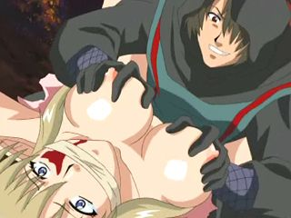 Caught anime elf with perfect juggs gets  fucked