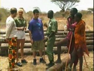 Blonde Tourist Gets Dped at African Safari