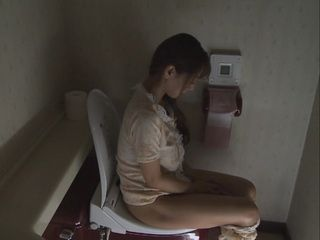 Unsatisfied Wife Sanae Aso Masturbates Her Pussy In The Toilet