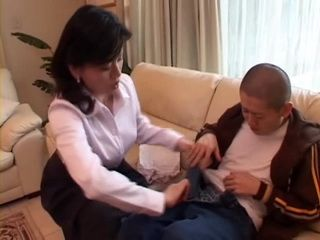 Harsh Mother Miki Sato Tricks Her Teenage Son Into
