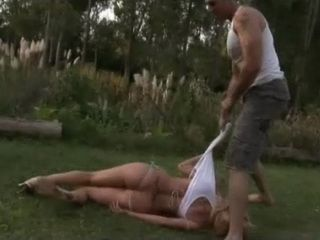 Unsatisfied Gardener  Anal Fucks Wife Of His Boss In the Garden