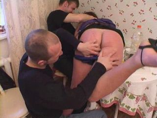 Mature Russian Mother Gets Fucked By Her 2 Sons