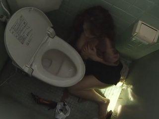 Cheating Wife Sanae Aso Fucked By Stranger at Cinema Toilet