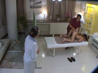Mature Mother Almost Caught Dirty Masseur Giving Pussy Massage To Her Daughter