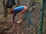 Amateur Teen Couple Fucking Through Border Fence