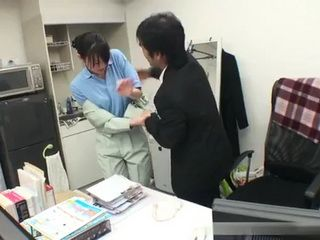 Office Cleaning Lady Gets Roughly Forced To Fuck - Japanese Uncensored Porn