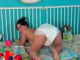 Teen in Diapers Pee xLx
