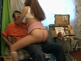 Teen Daughter Blows and Fucks Her Daddy