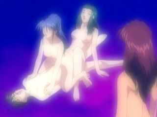 Hentai coeds threesome dildoing sex