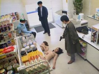 Armed Robbers Molested 2 Security Ladies Anna Moriyama and Mari Hosokawa In The Store